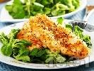 Рецепта Хрупкави пилешки филета (гърди), оваляни в галета и маково семе, печени на фурна